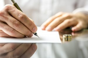 signing divorce documents